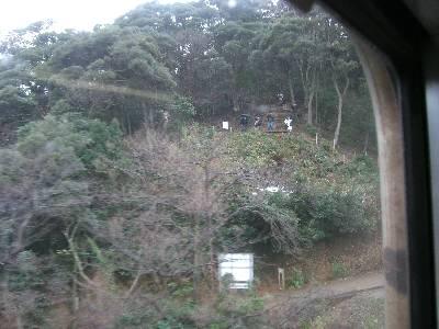 余部鉄橋上を走る車両から見た鉄橋撮影ポイント