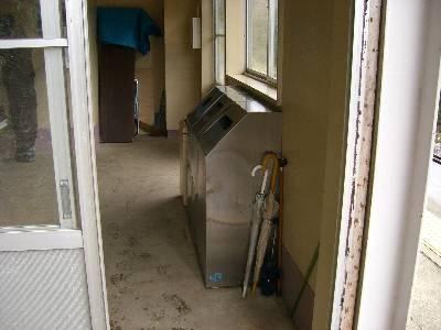 餘部駅のゴミ箱