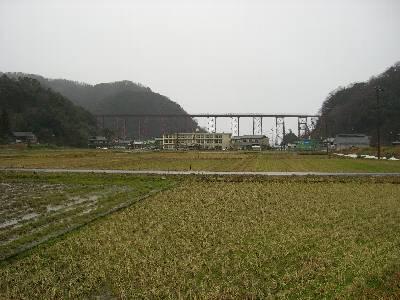内陸側から見る余部鉄橋